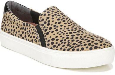Dr. Scholl's Women's Nova Slip-On Sneaker (Tan/Black Spotted Fabric)