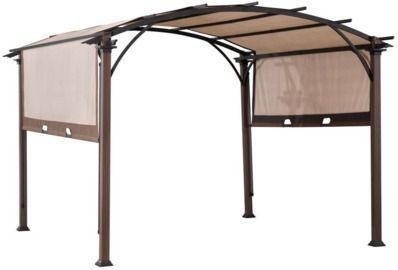 Living Accents 10-Foot Fabric Arched Pergola