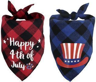 Shokan 4th of July Pet Bandanas (2-Pack)