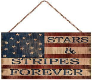 4th of July Wooden Hanging Signs