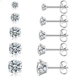 5 Pairs Stud Earrings Set