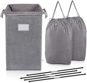 Large Laundry Hamper with 2 Removeable Laundry Bags & Sorting Card