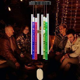 Solar Outdoor LED Changing Colors Wind Chimes