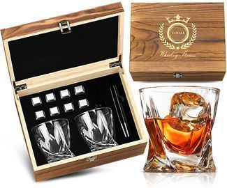 Whiskey Stones and Glass Set