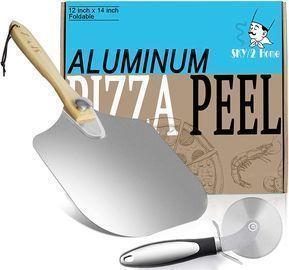 Aluminum Pizza Peel and Pizza Cutter