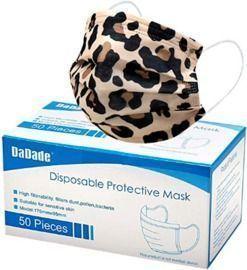 50 Disposable Face Masks - Leopard