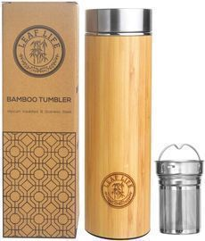 LeafLife Sustainable Bamboo Tumbler with Tea Infuser & Strainer