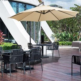 9' Patio Offset Umbrella Hanging Cantilever Umbrella with Crank & Cross Base
