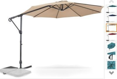 10' Offset Cantilever Patio Umbrella (Choice of Color)