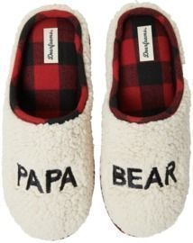 Dearfoams Papa Bear Sherpa Clog Slippers