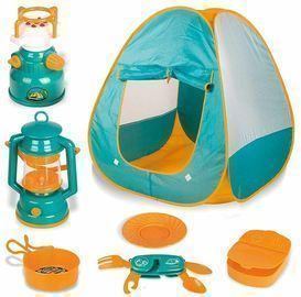 Kids' Pop Up Play Tent w/ Camping Toys
