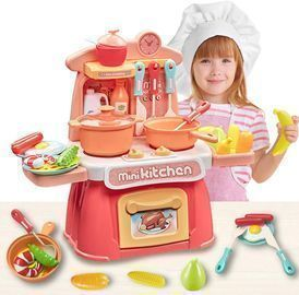 26PCS Kitchen Playset with Realistic Sound and Light