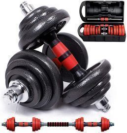 Cast Iron Adjustable Dumbbells Barbell Set