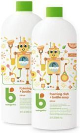 Babyganics Foaming Dish & Bottle Soap - 2pk