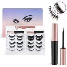 10 Pairs of Magnetic Eyelashes w/ Magnetic Eyeliner