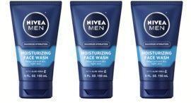 3x NIVEA Men Maximum Hydration Moisturizing Face Wash