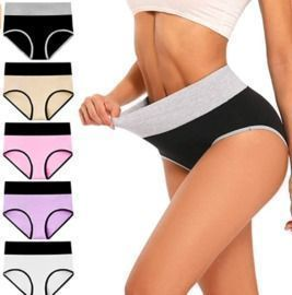 High Waisted Cotton Underwear