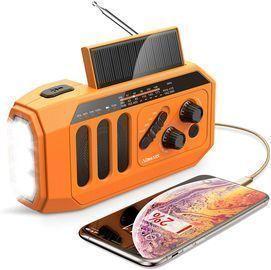 Emergency 5000mAh Hand Crank Solar Weather Radio