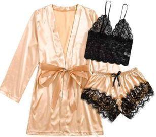 3PC Lingerie Pajama Set