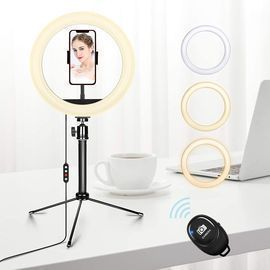 10.2'' Ring Light with Stand and Phone Holder
