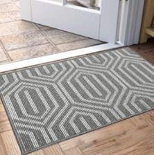 DEXI Indoor Doormat, Non Slip Absorbent Resist Dirt Rug & Machine Washable