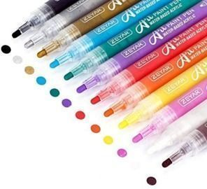 Acrylic Paint Pens, 12 colors