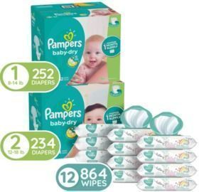 Pampers Baby Diapers and Wipes Starter Kit