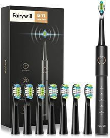 Fairywill Sonic Electric Toothbrush w/ 8 Brush Heads
