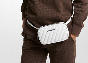 Michael Kors Rose Quilted Convertible Belt Bag