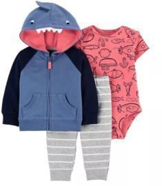 3-Piece Shark Little Jacket Set