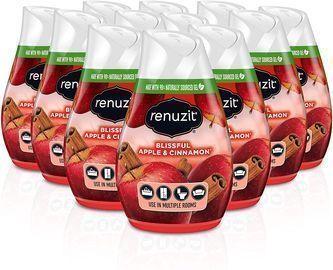 12 Count Renuzit Gel Air Freshener, Blissful Apple & Cinnamon