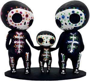 Sugar Skull Couple Figurine Statues