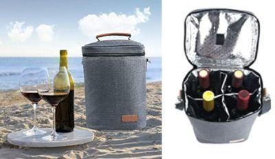 4 Bottle Wine Carrier with Shoulder Strap