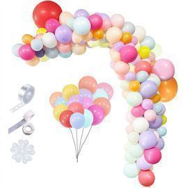 Pastel Balloons Garland Arch Kit-115pcs