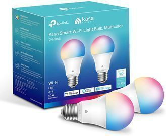 2pk of Kasa Color Changing Dimmable Smart WiFi Bulbs