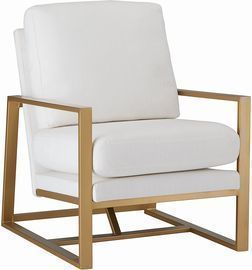 Rivet Charlotte Mid-Century Modern Upholstered Gold Accent Chair