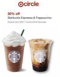 Target - 20% Off Starbucks Espresso & Frappuccino