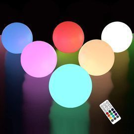 6 Pack Floating Pool Lights with Remote