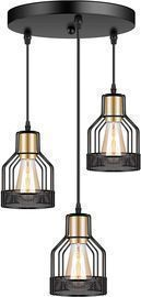 3-Light Industrial Pendant Lighting
