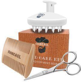 Beard Comb Beard Brush Set