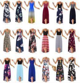 V Neck Sleeveless Summer Sundresses