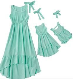 Mommy and Me Summer Sleeveless Dress