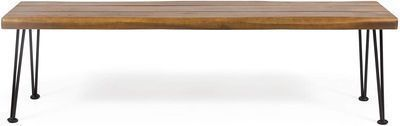 Christopher Knight Home Gladys Outdoor Modern Industrial Acacia Wood Bench