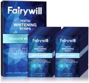 Reduced Sensitivity White Strips for Teeth Whitening-Pack of 28 Whitener Strips