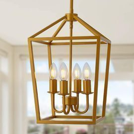 Chandelier Light Fixture Gold Pendant
