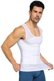 Men Compression Shirt Slimming Body Shaper Vest