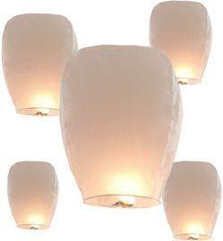 5 Pack Sky Lanterns Wishing Paper Lanterns