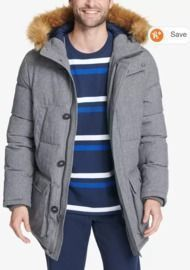 Tommy Hilfiger Men's Long Snorkel Coat