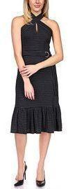 Michael Kors Belted Striped Midi Dress (2 Colors)