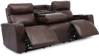 Oaklyn 84 Leather Sofa w/ Powered Recliners